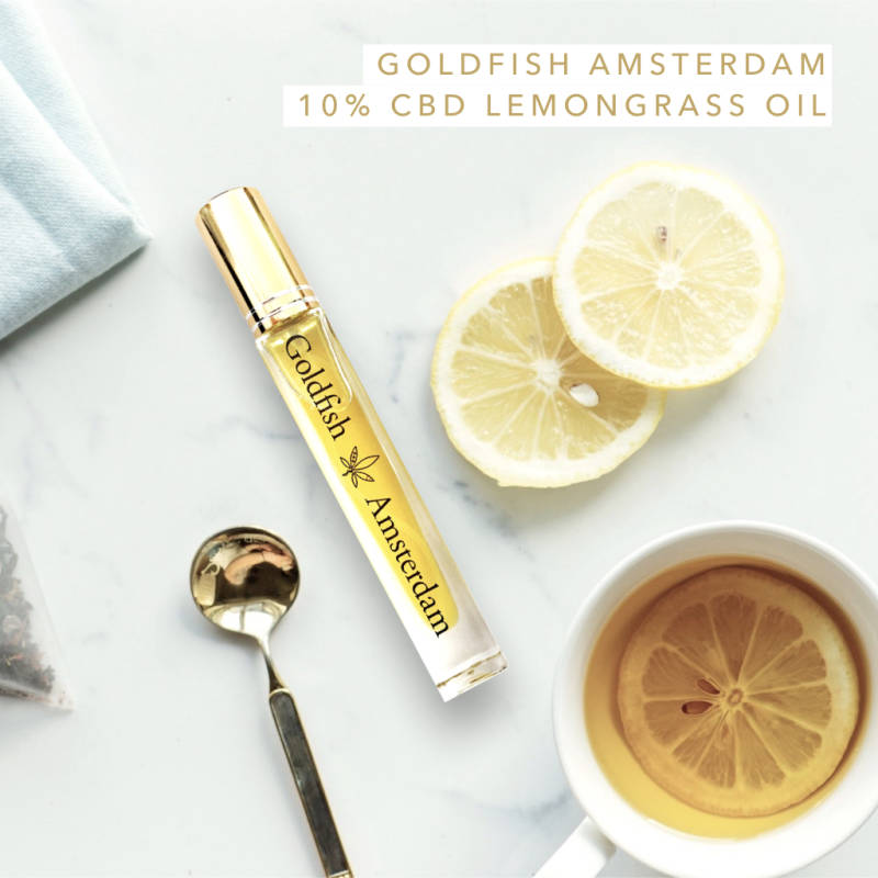Goldfish Amsterdam Lemongrass 5%, 10% of 15% CBD Olie met vitamine D3