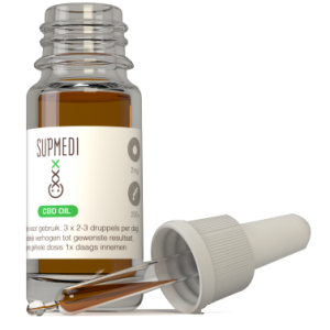 SupMedi CBD Oil 10% 10ml, 10ml contains 1000mg CBD in olive oil