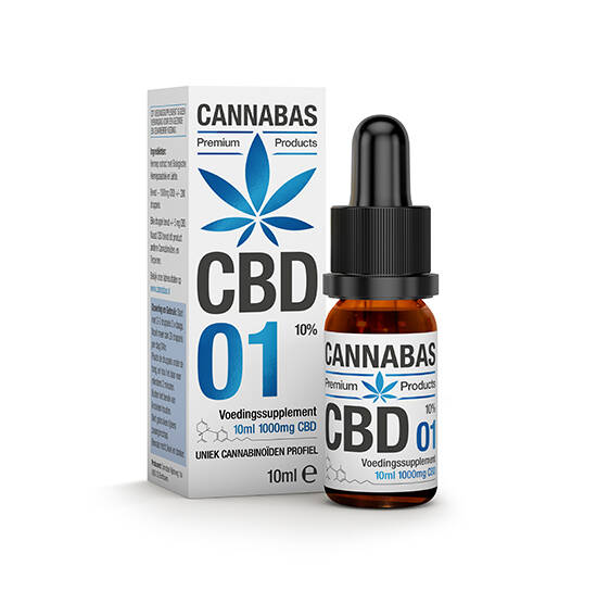Cannabas CBD Oil 1, 10% full spectrum hemp oil in 10 or 30 Ml