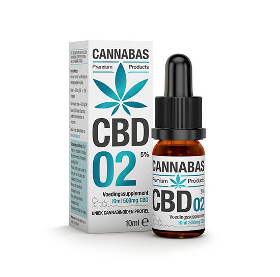 Cannabas CBD Olie 2. | 5% full spectrum hennepzaad olie in 10 of 30 Ml