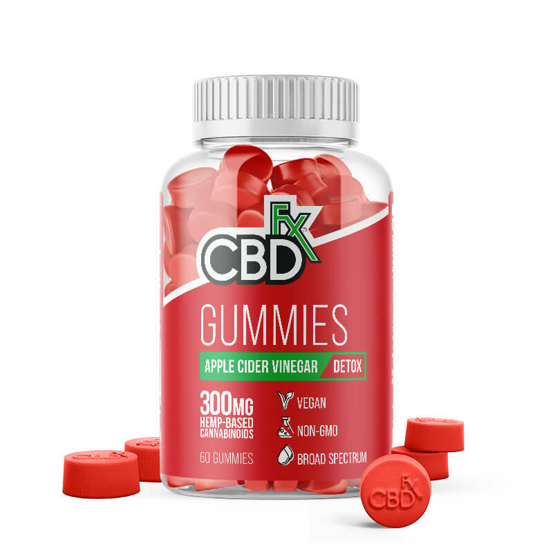 CBDFx | GUMMIES WITH APPLE CIDER VINEGAR | 300 Mg CBD | 60 Gummies