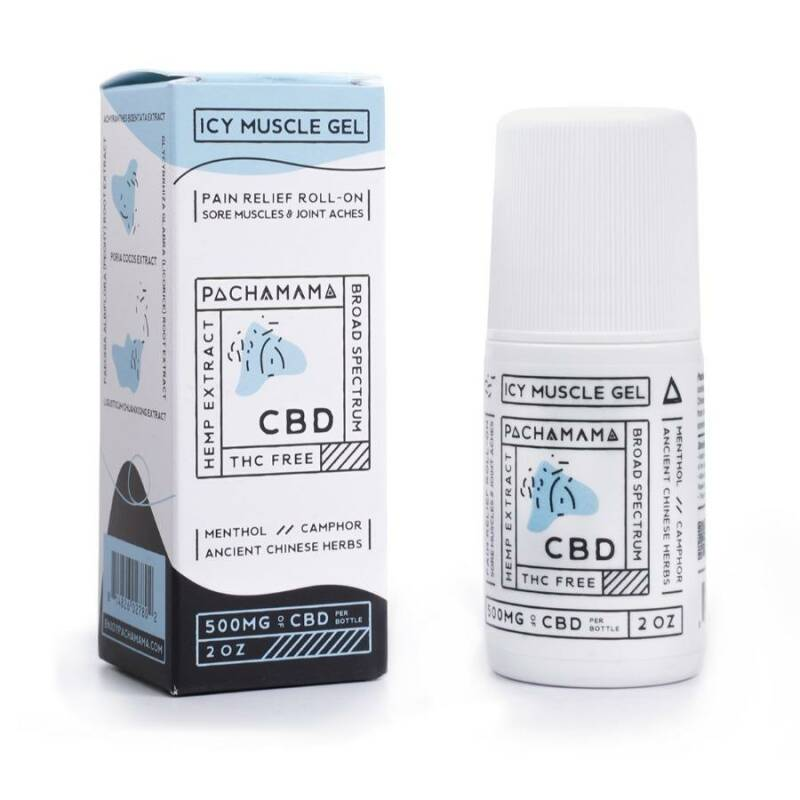 Pachamama | Icy Muscle Gel | Roll-On | 500 Mg CBD | 60 Ml