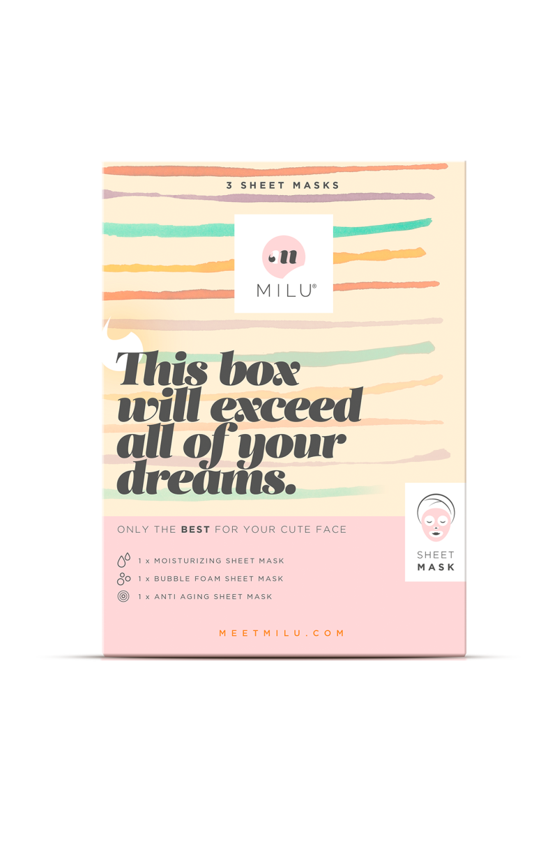MILU 3 Sheet Mask Gift Box