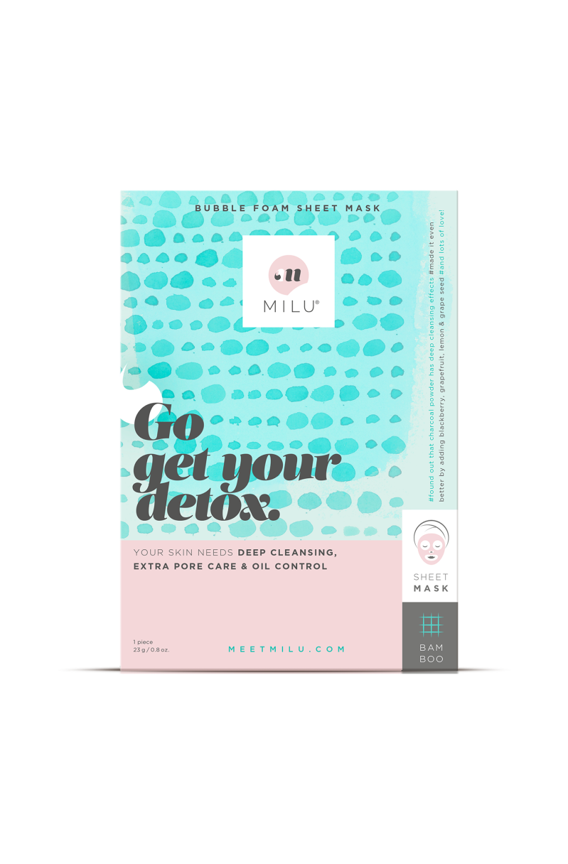 MILU Bubble Foam Sheet Mask