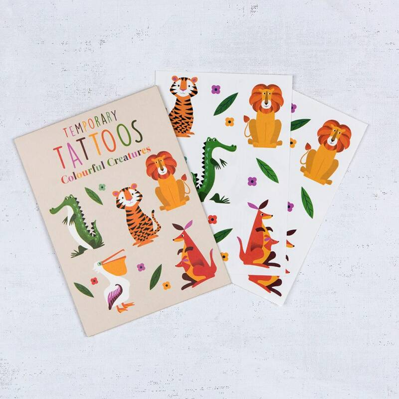 Temporary tattoos 'colourful creatures'