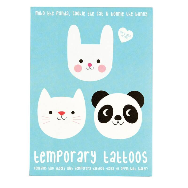 Temporary tattoos 'panda cat bunny'
