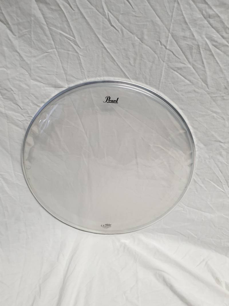 "NEW Pearl/Remo 20"" UT clear drum head with ring"