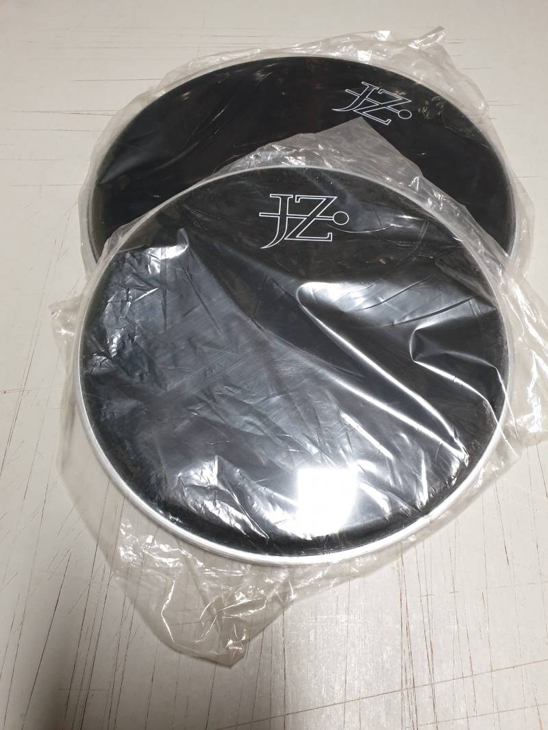 """NEW set 10"""" and 12"""" drum heads black"""