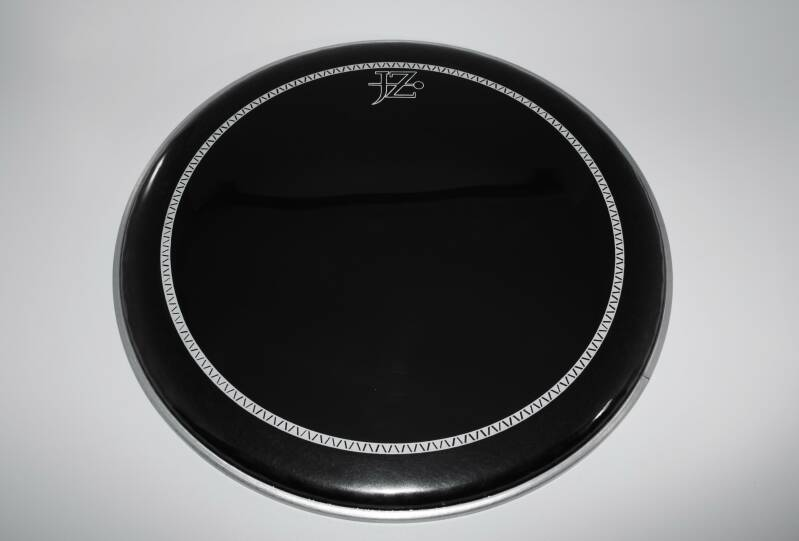 "NEW JZ 15"" drum head pinstripe black"