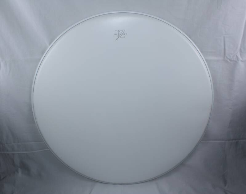 """NEW JZ 24"""" drum head coated white"""