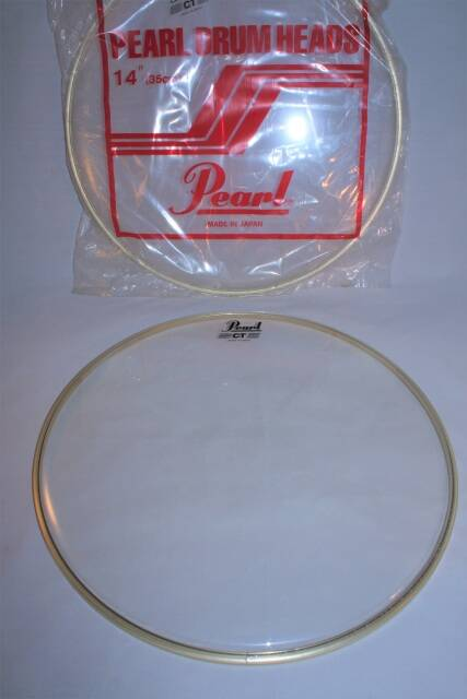 """NEW Pearl drum head CT clear 14"""""""
