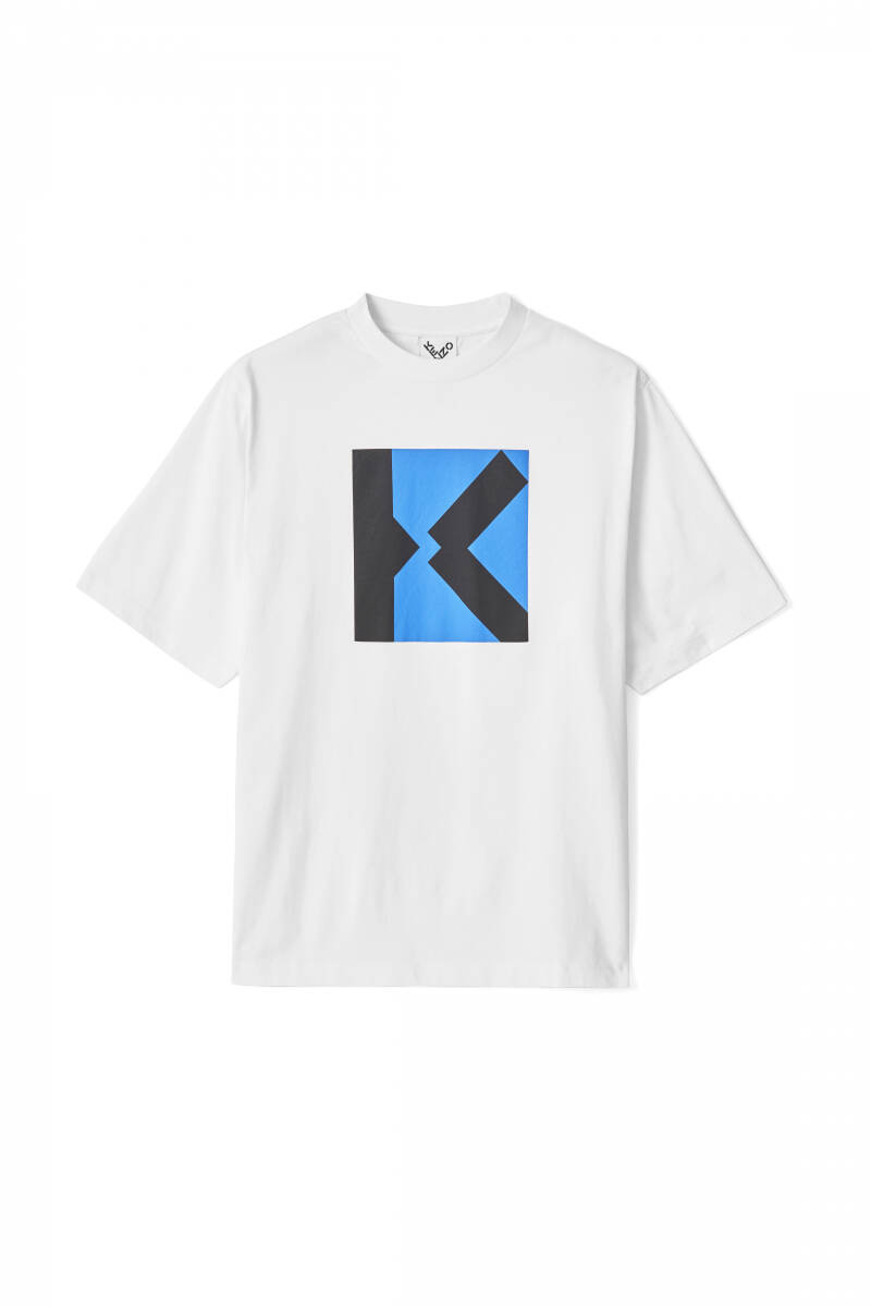 Kenzo T-shirt white with blue design SS21