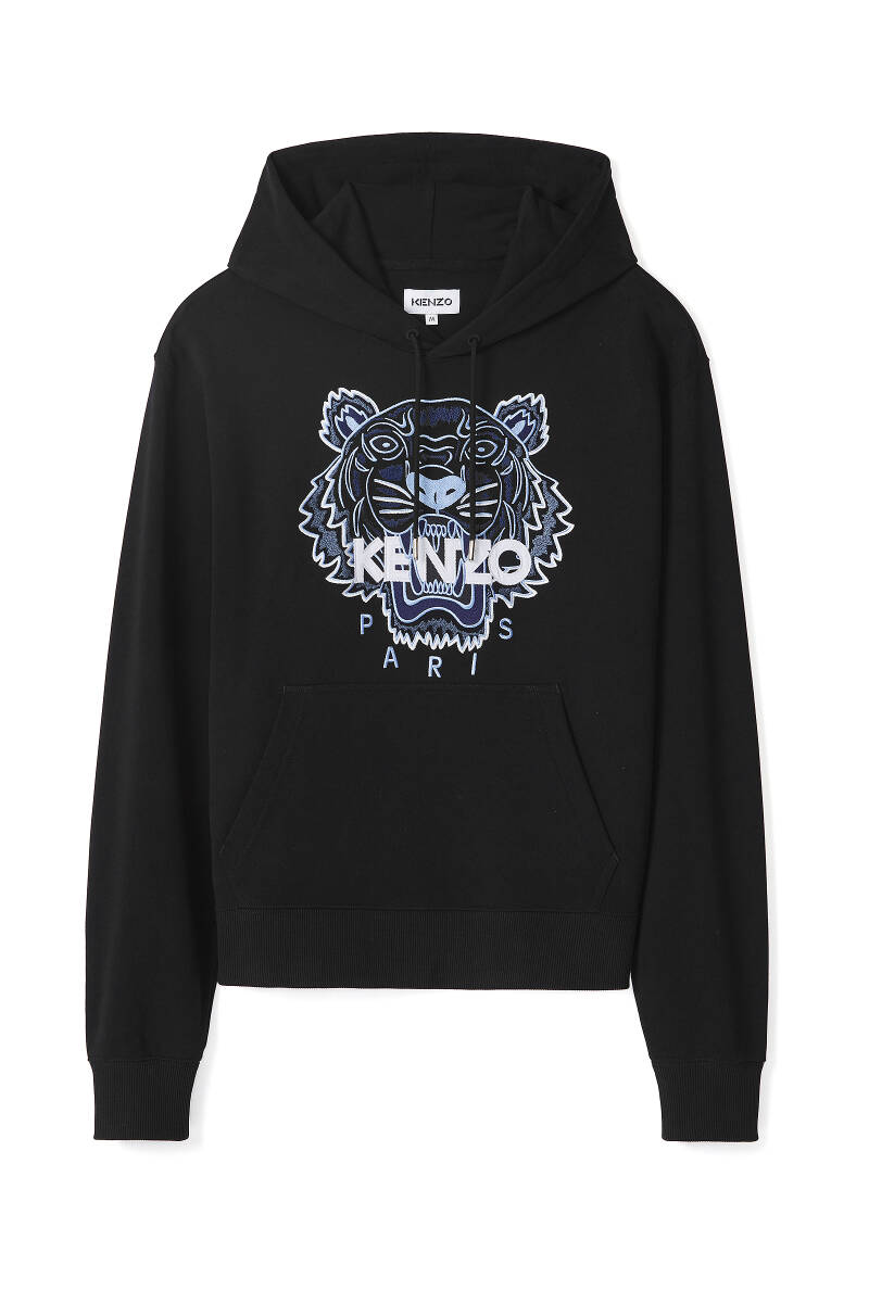 Kenzo hoodie black with blue tiger SS21