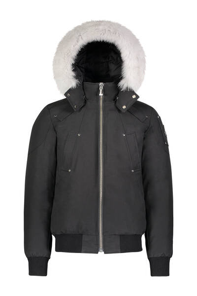 Moose knuckles winterjas bomber zwart/wit