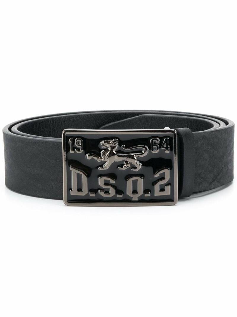 Dsquared riem badge zwart