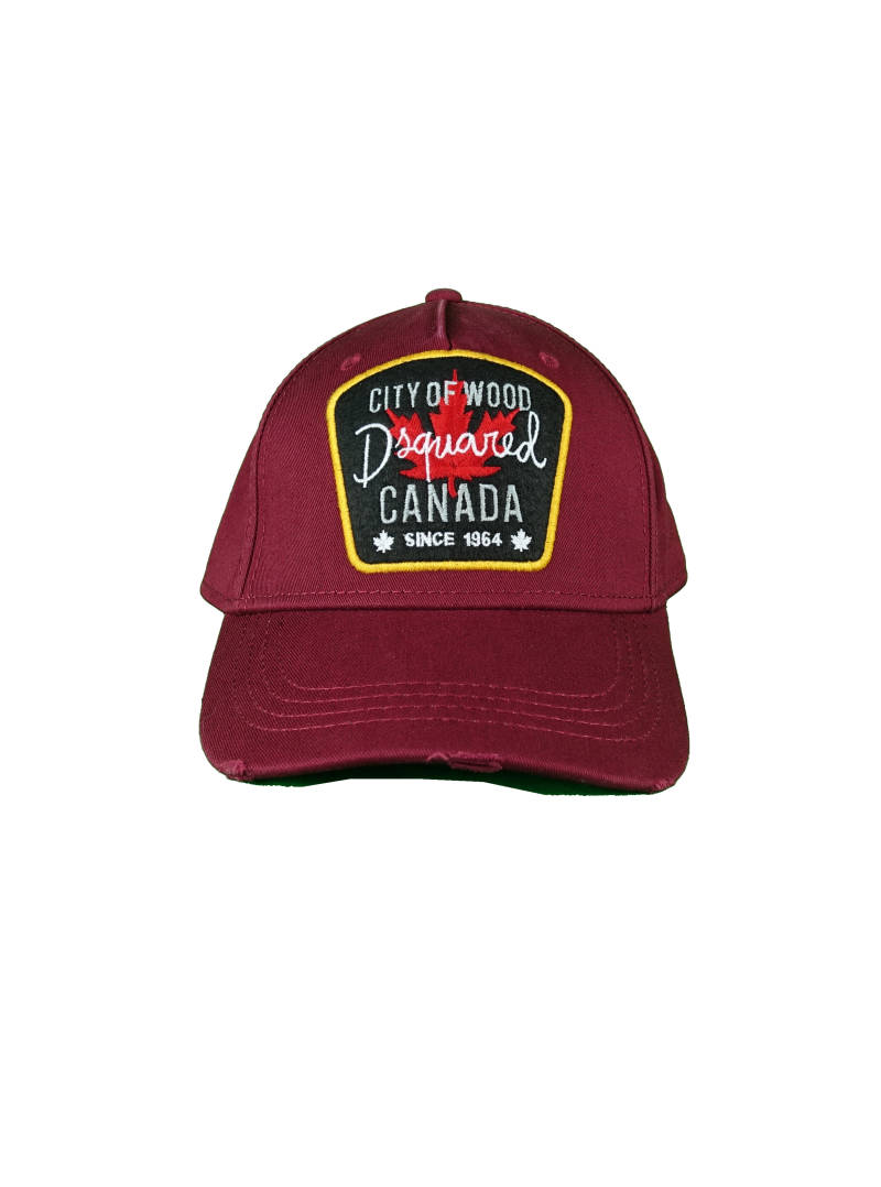 DSQUARED2 Baseball Cap City of Wood Canada Donker Rood