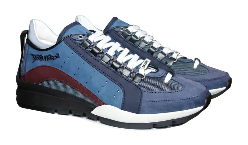 Dsquared2 Sneakers 551 Runner Blauw/Bordeaux - AW1819