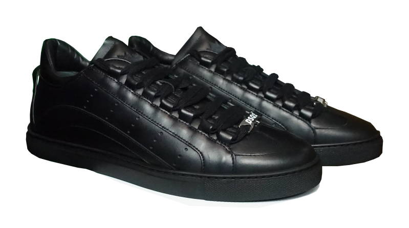 Dsquared2 Sneakers 2551 Tennis Wave Leather Black - AW1819