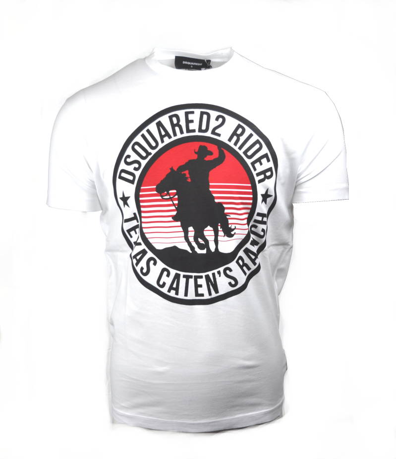 Dsquared2 Texas Rider White T-Shirt - AW1819