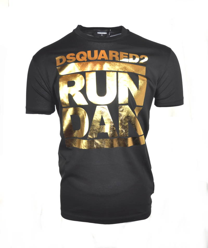 Dsquared2 Run Dan T-shirt Black - AW1819