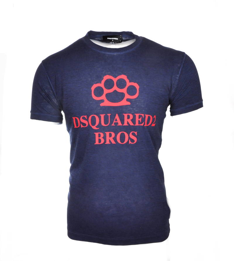 Dsquared2 Knuckleduster print T-shirt Darkblue - AW1819