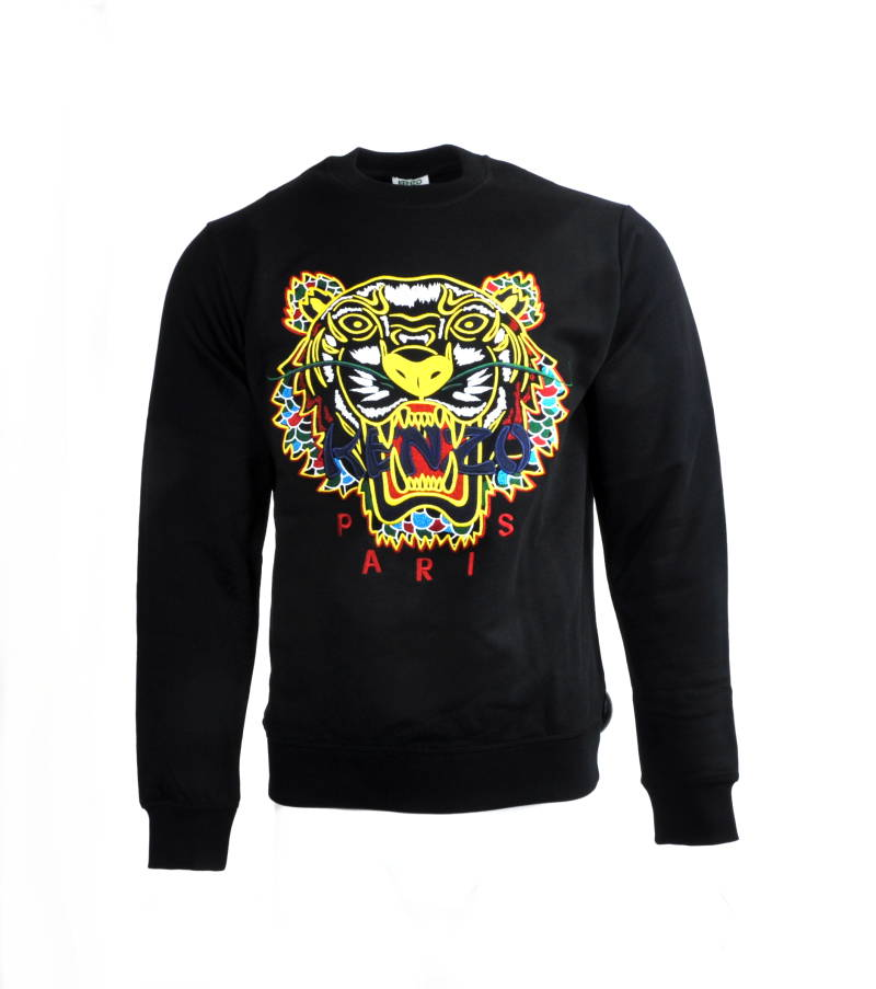 Kenzo Sweater Zwart Tiger Yellow Geel - AW1819