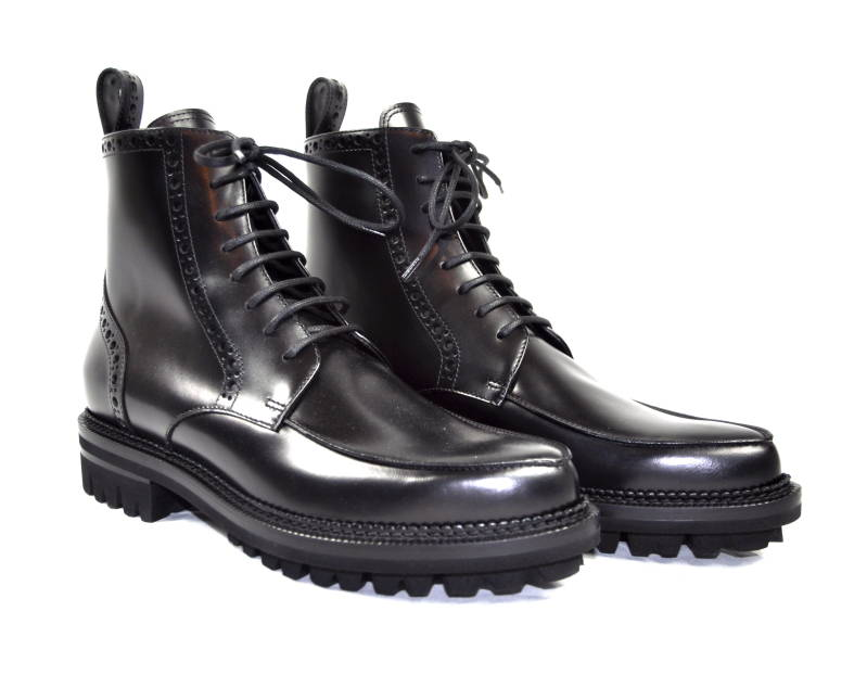 Dsquared2 Lace-up Boots Pointed Toe Black Zwart - AW1819