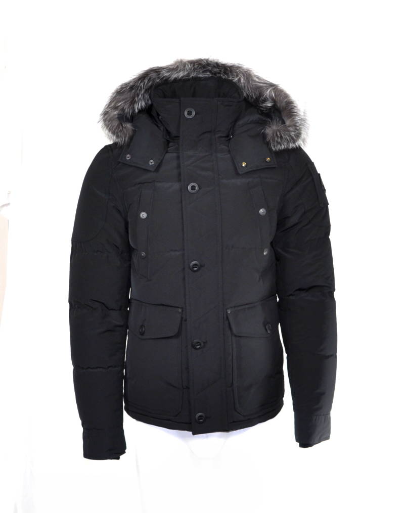 Moose Knuckles Port Dufferin Down Feather Fill Hooded Jacket Winter Jas Black Zwart - AW1819