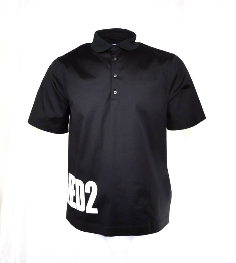Dsquared2 Black Polo Zwart - AW1819