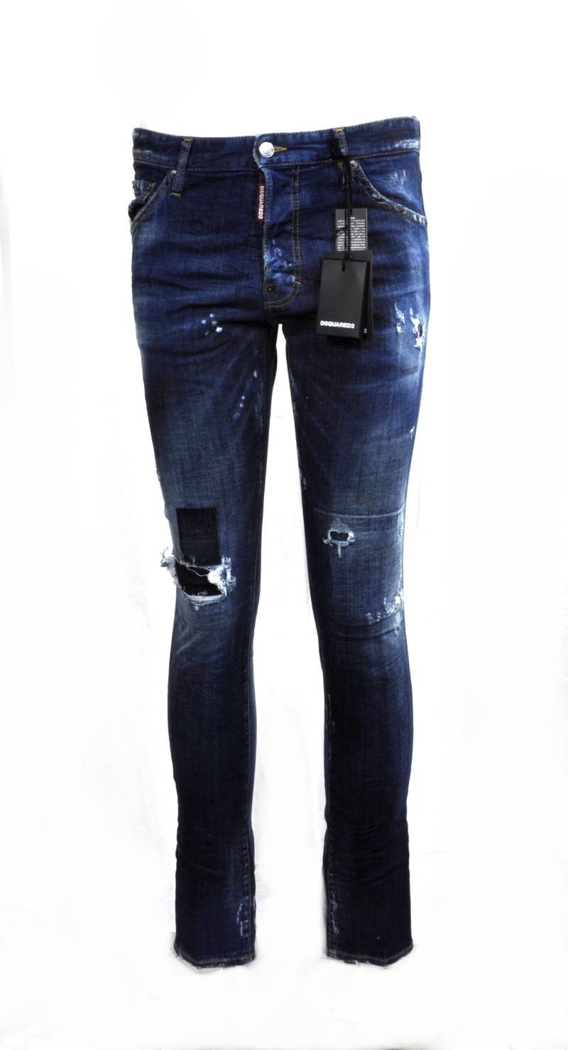 Dsquared2 Cool Guy Destroyed Blue Slim-Fit Jeans - AW1819
