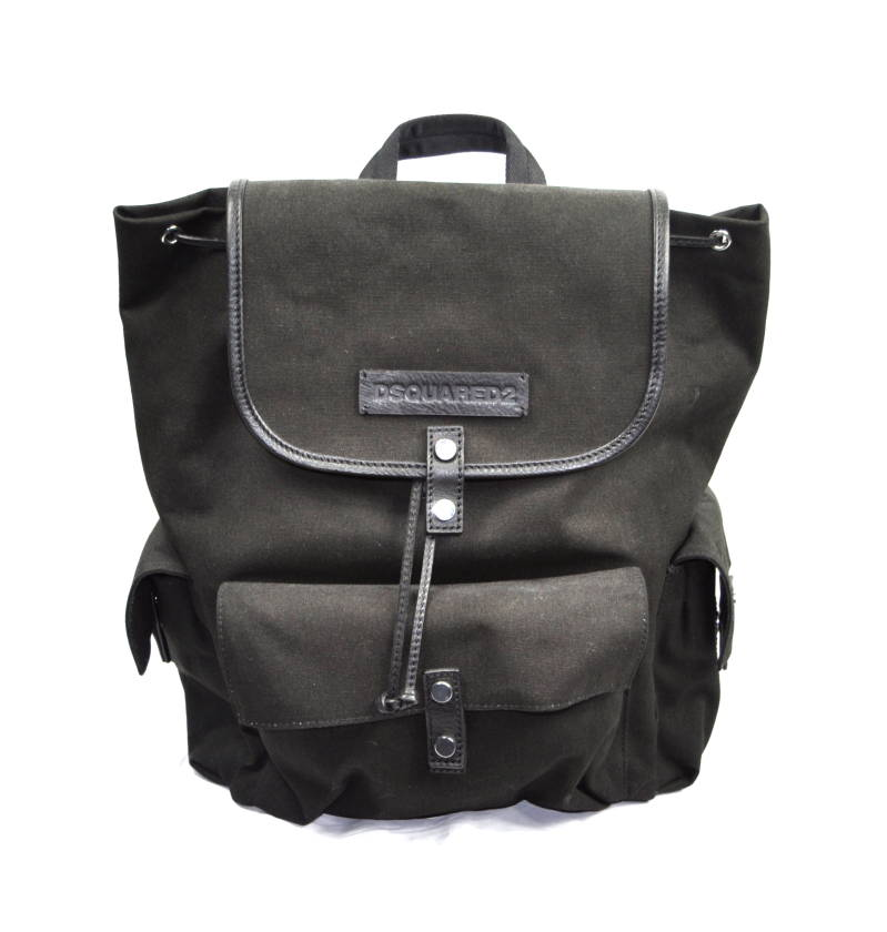 Dsquared2 Bad Scout Military Trimmed Backpack Black Zwart - AW1819