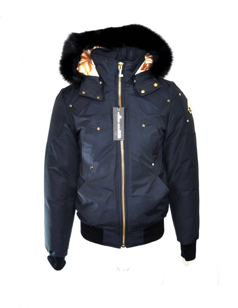 Moose Knuckles Comeau Bomber Winter Jas Navy Blue Blauw- AW1819