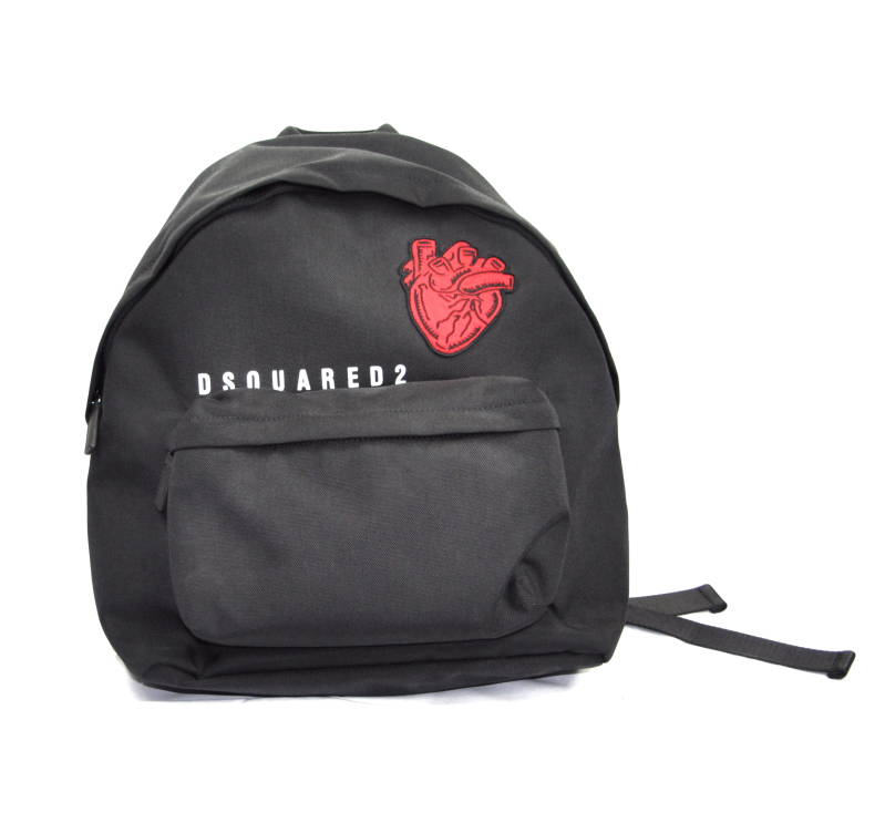 Dsquared2 Heart Patch Backpack Black Zwart - AW1819