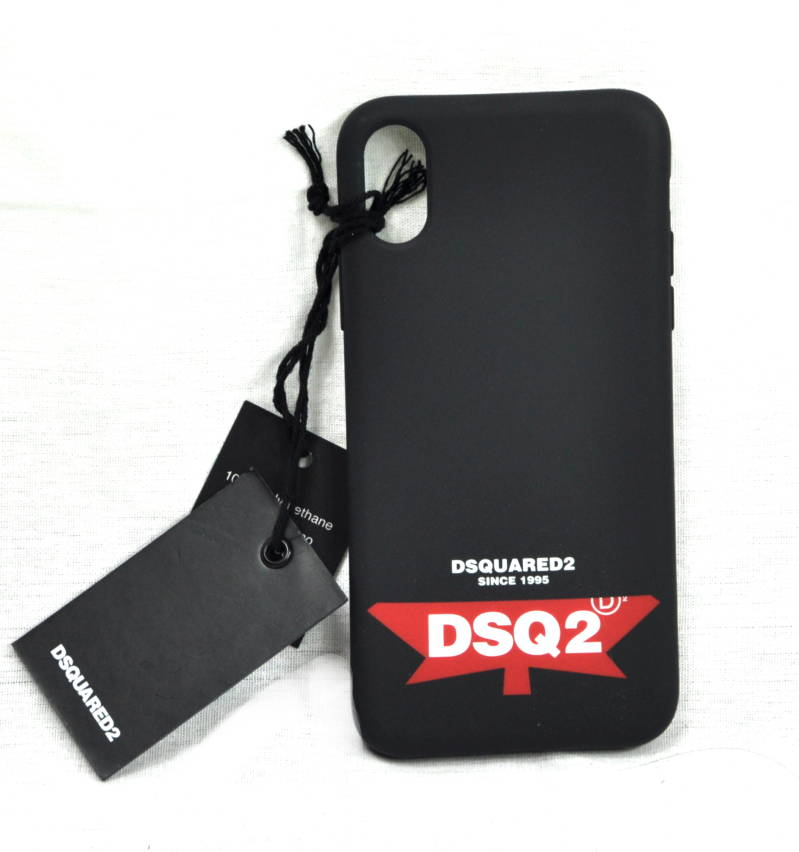 Dsquared2 Case iPhone X Hoesje Logo Black - AW1819