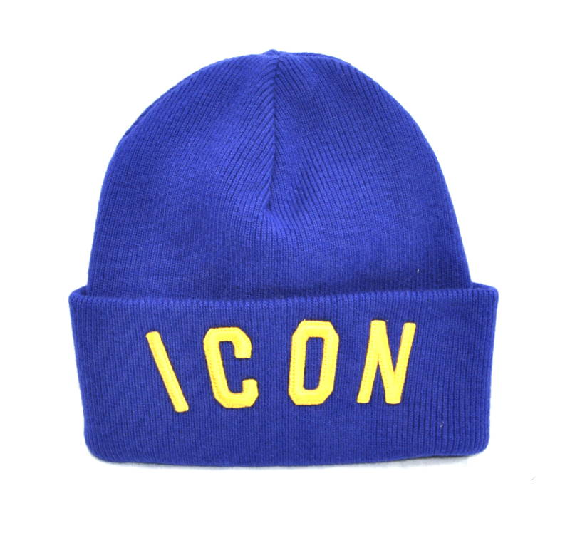 Dsquared2 Beanie ICON Hat Blue/Yellow - AW1819