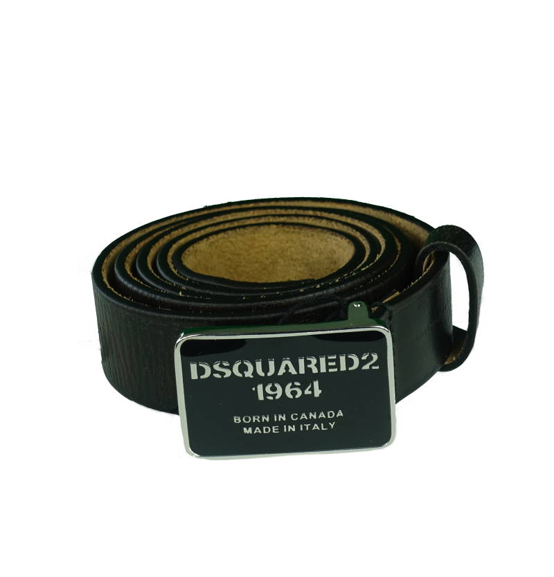 DSQUARED2 Logo Buckled Belt Riem Zwart