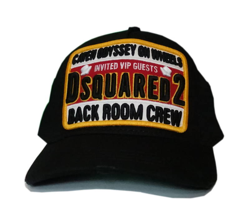 Dsquared2 Cap Back Room Crew Zwart - AW1819