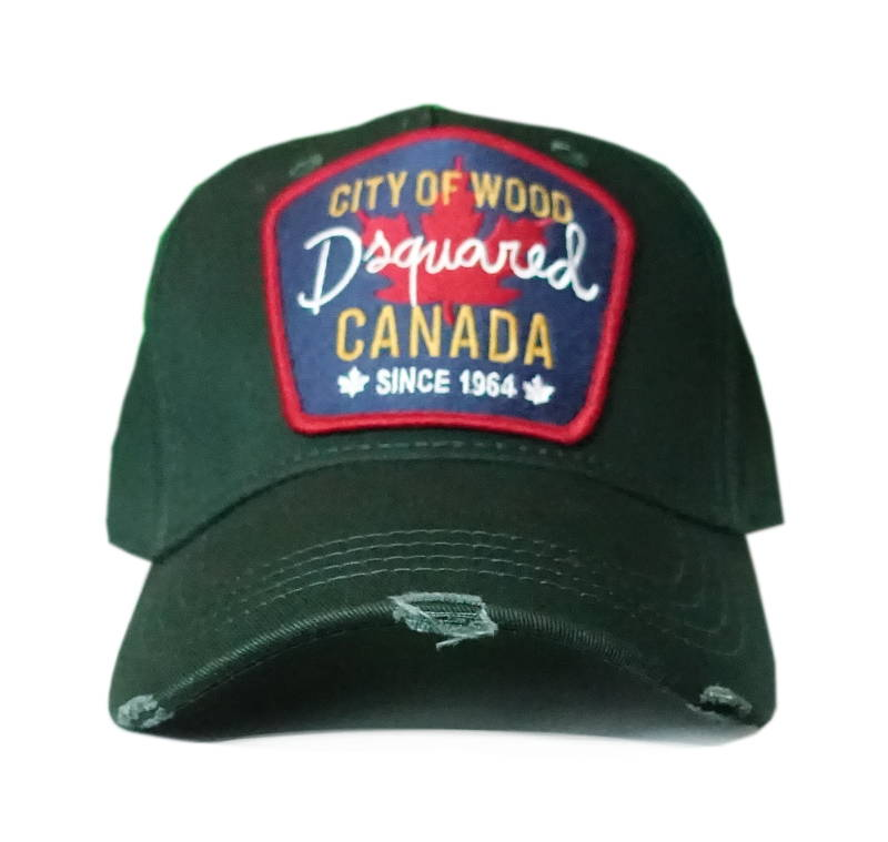 Dsquared2 Cap City of Wood Canada Donkergroen - AW1819