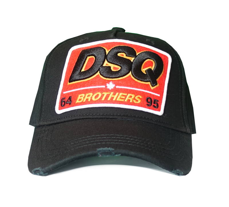 Dsquared2 Cap DSQ Brothers Zwart - AW1819