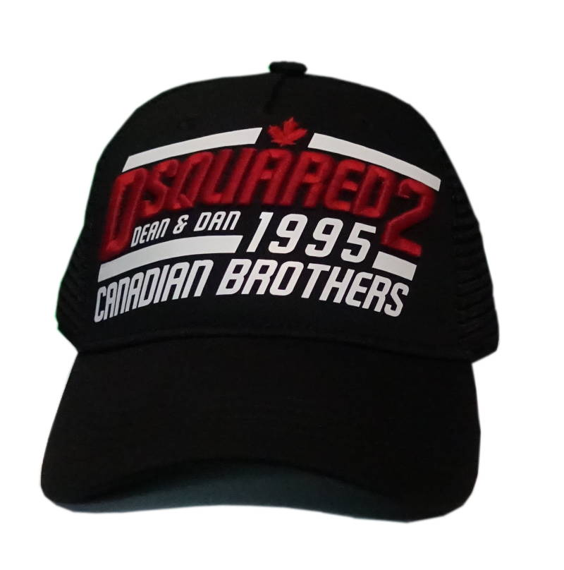 Dsquared2 Cap Dean & Dan 1995 Canadian Brothers Zwart - AW1819