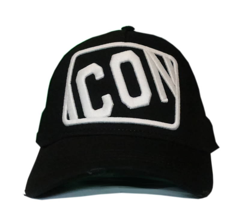 Dsquared2 Cap Icon Stamp Zwart - AW1819