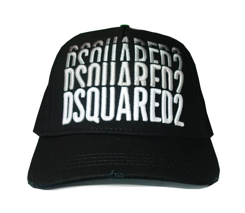 Dsquared2 Cap Multiplied Zwart - AW1819