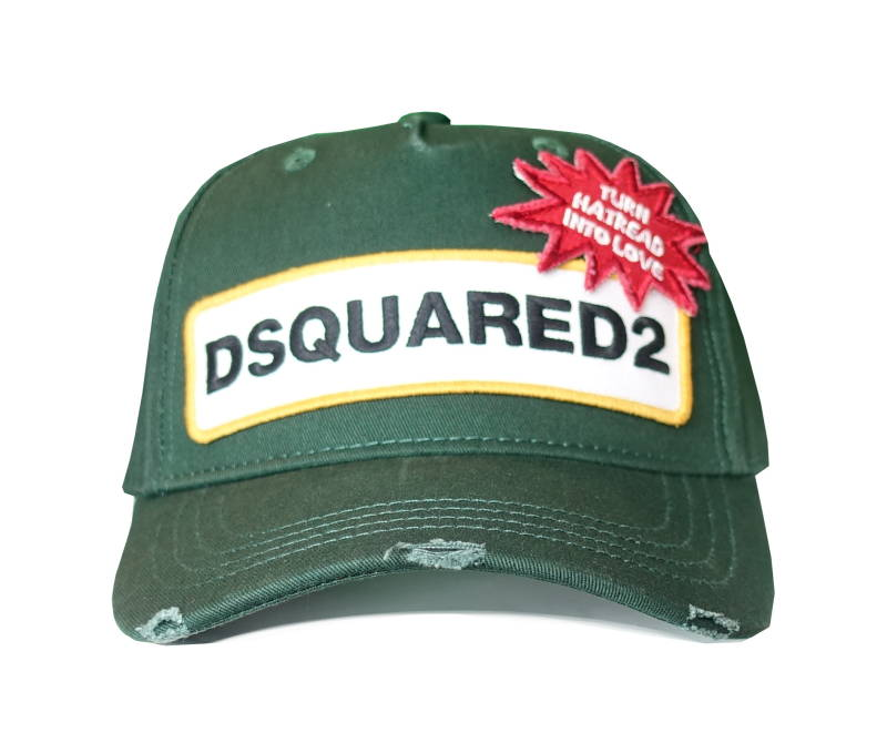 Dsquared2 Cap DSQUARED2 Turn Hatread Into Love Donkergroen - AW1819