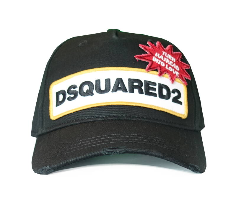 Dsquared2 Cap DSQUARED2 Turn Hatread Into Love Zwart - AW1819