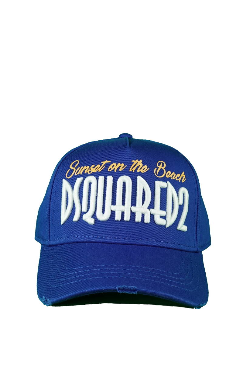 DSQUARED2 Sunset on the Beach Baseball Cap Blauw