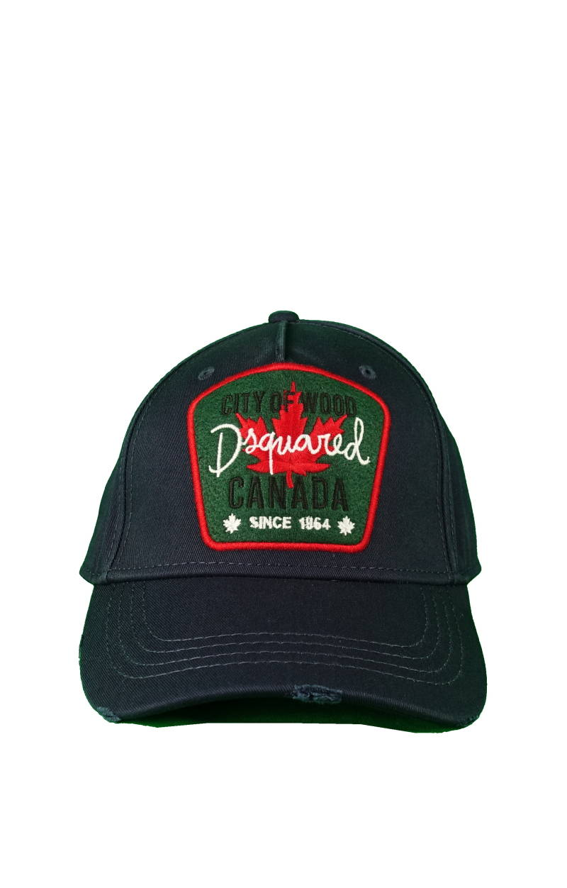 Dsquared2 City of Wood Canada Baseball Cap blauw/groen - AW1819