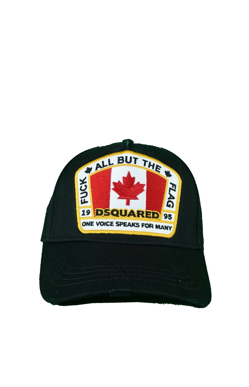DSQUARED2 F*ck All But The Flag Baseball Cap blauw - AW1819
