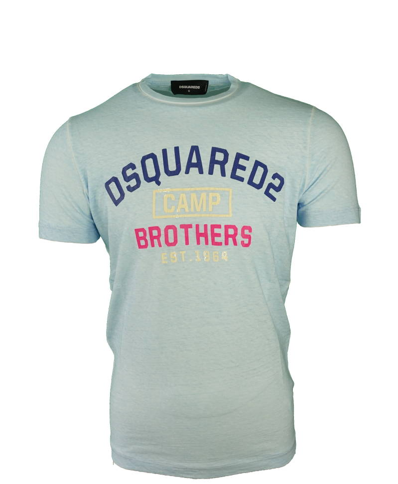 DSQUARED2 Camp Brothers T-Shirt Blauw