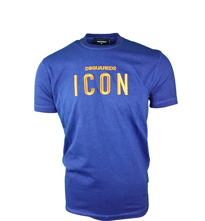 DSQUARED2 ICON Embroided T-Shirt Blauw - AW1819
