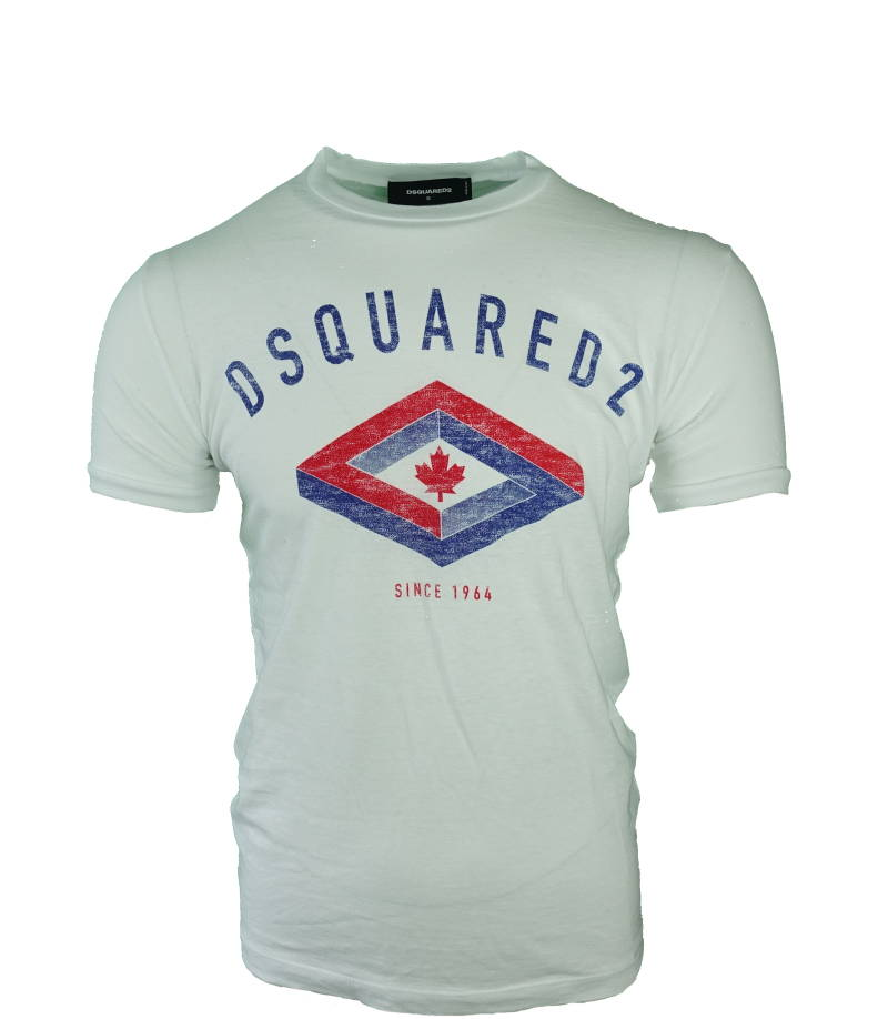 DSQUARED2 Logo T-shirt Wit